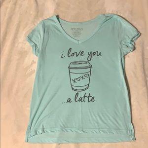 I love you a latte shirt